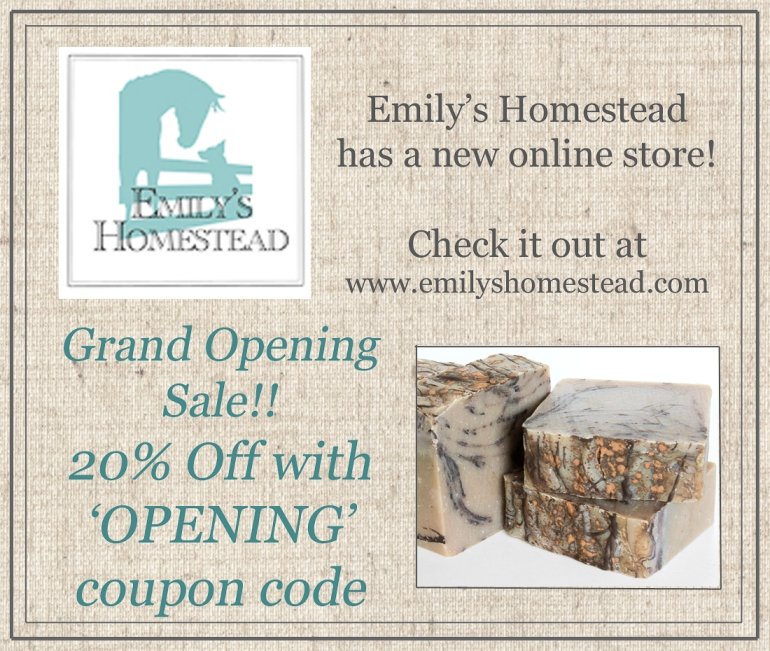 Emily's Homestead Grand Opening Sale