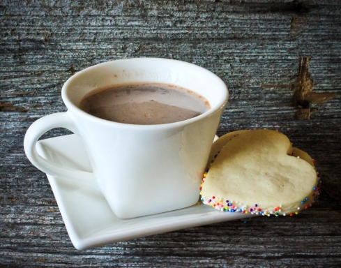 Sugar cookies and hot chocolate