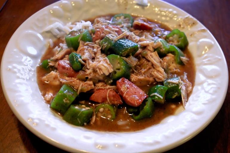 Yvonne's Chicken Sausage Gumbo