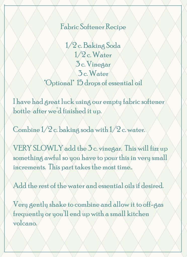 Fabric Softener Diy Recipe