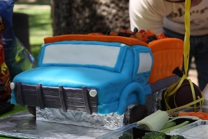 Dump Truck Birthday Cake for Boy