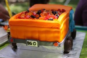 Back of Dump Truck Cake