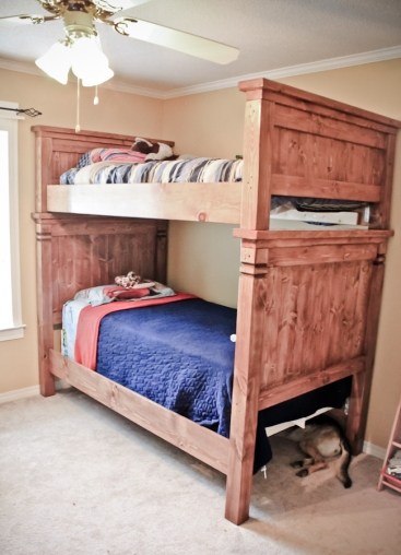 Bunkable twin beds