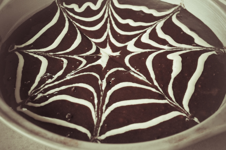 Spiderweb Brownies-13