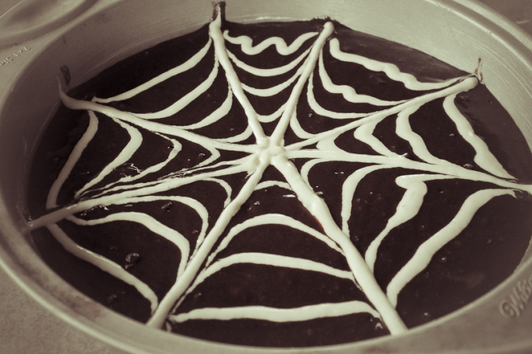 Spiderweb Brownies-14