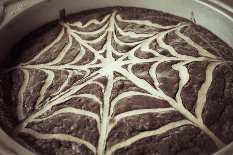 Spiderweb Brownies-15