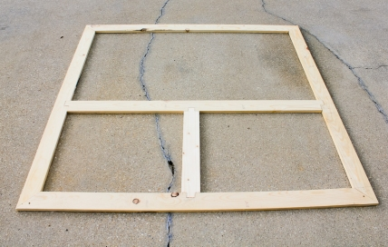 I added another piece of wood for support, looks and to help frame out for a side door.