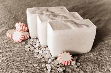 Peppermint Oatmeal Soap-9