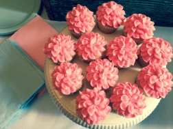 These little ruffled cupcakes were the hit of the dessert table.