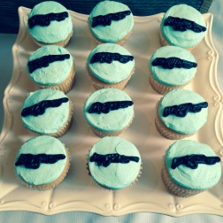 Blue Rifle Cupcakes