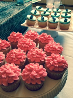 Ruffles or Rifles Cupcakes