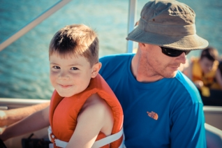 We loved spending time in the Ozarks and getting to be out on the boat and in the water.