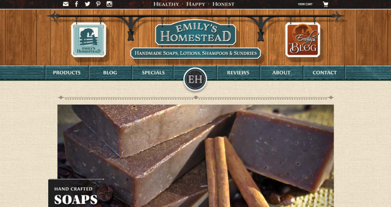 Emily's Homestead New Website