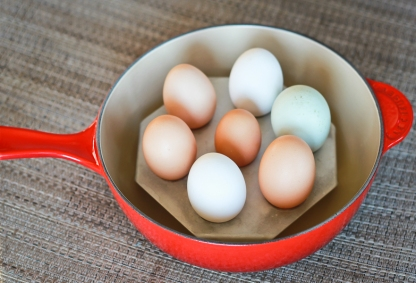 Steaming Eggs-Le Creuset-3