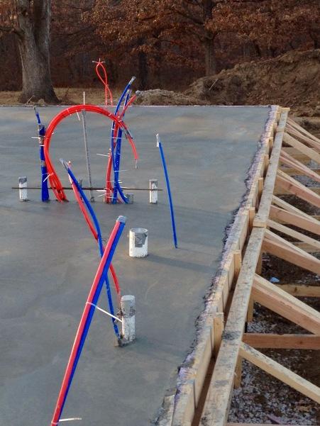 Concrete Foundation - Passive Solar Cabin