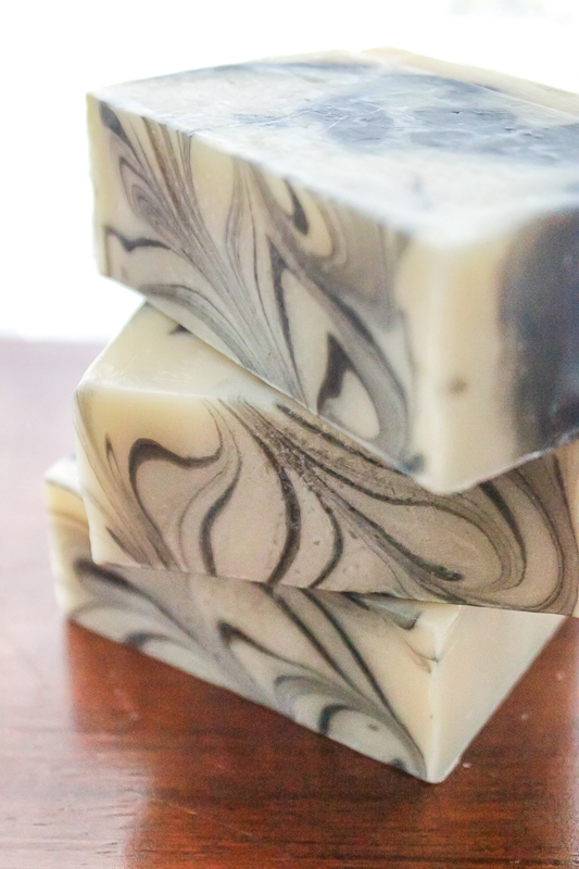 black and white tea soap