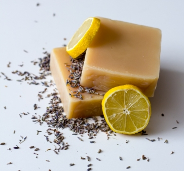 lemon and lavender soap