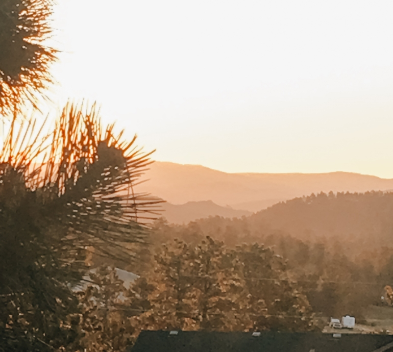 Sunrise in Bailey Colorado